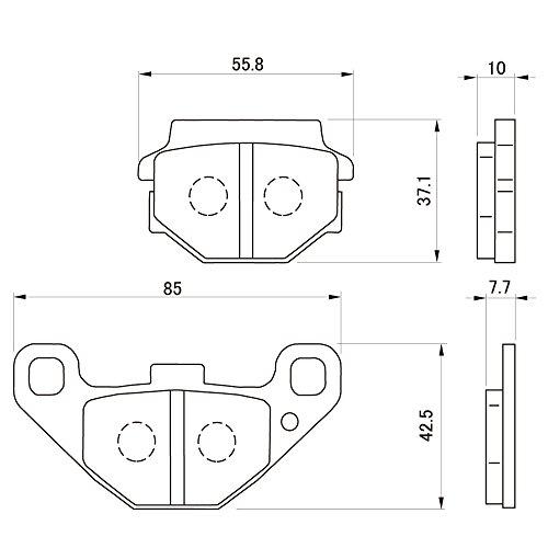 デイトナ(DAYTONA) ブレーキパッド 赤パッド フロント:エストレヤ、リア:ZZR250/バリオス など 79837