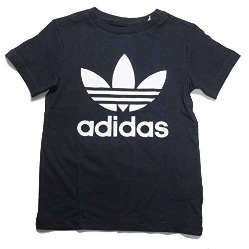 アディダス オリジナルス トレフォイル Tシャツ キッズ adidas LITTLE TRF TEE EKP40 (130, ブラック×ホワイトCD8439)
