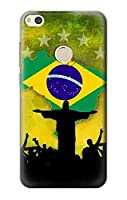 JP2981P87 ブラジルサッカー Brazil Football Soccer Map Flag Huawei P8 Lite (2017) ケース