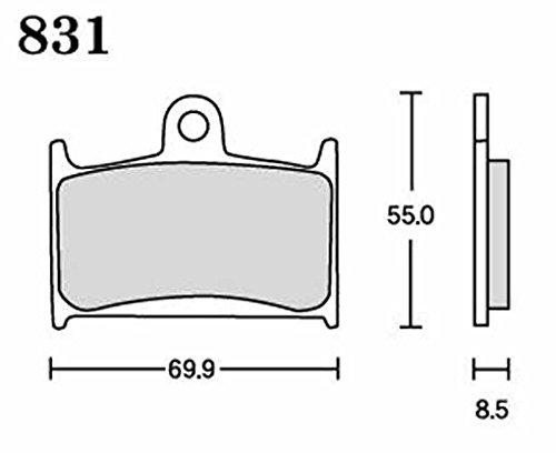 アールケー(RK) ブレーキパッド メガアロイ  SUZUKI:GSF1200/S/ABS ~'99[ニッシン4P](フロント)など バイク オートバイ 二輪用831MA-X