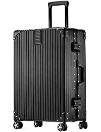 クロース(Kroeus)スーツケース 大型 軽量 人気 キャリーケース 旅行用品 出張 TSAロック搭載 機内持込可 大容量 耐衝撃 ヘアライン仕上げ 4輪ダブルキャスター 静音