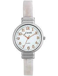 f299888569 J-AXIS べっ甲調バングルウォッチ 女性に人気サンフレイム可愛い腕時計 ホワイト AL1283
