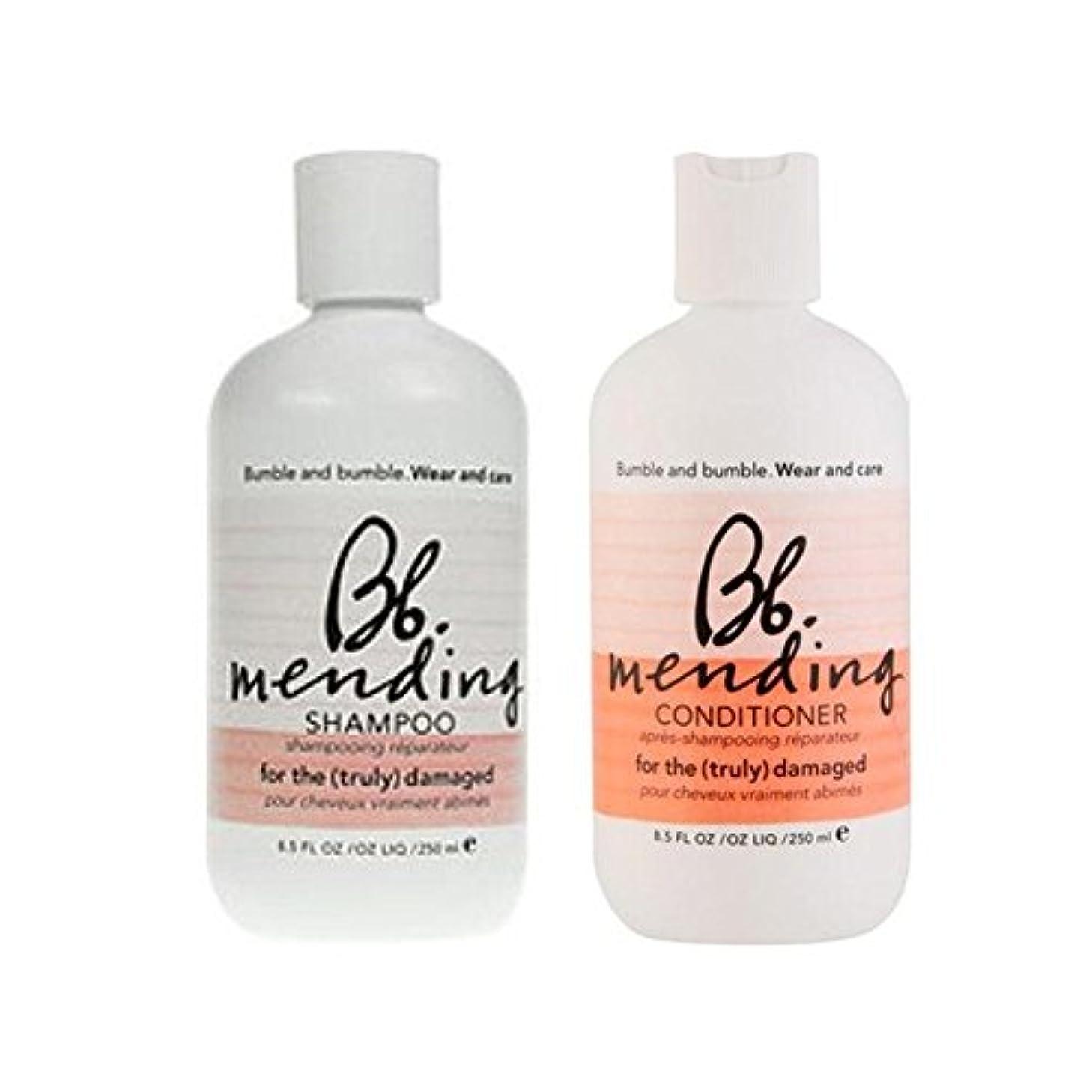 通り用心知覚できる着用し、-シャンプーとコンディショナーを補修ケア x4 - Bb Wear And Care Mending Duo- Shampoo And Conditioner (Pack of 4) [並行輸入品]
