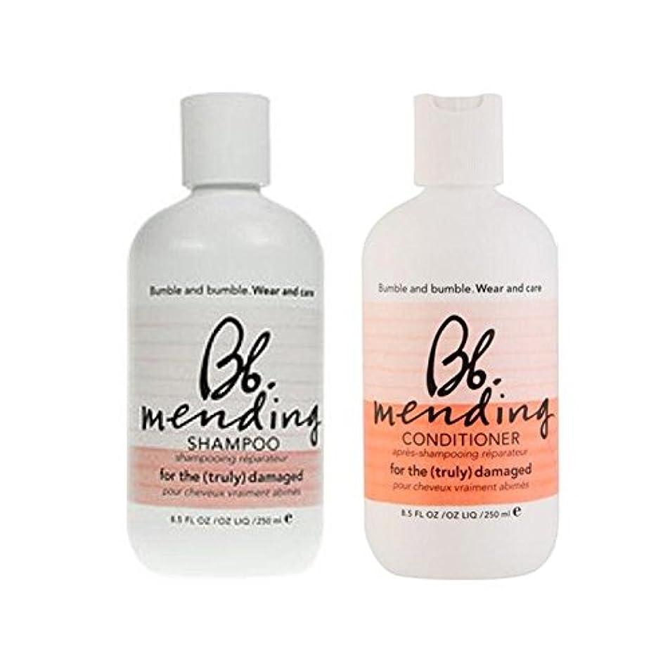 和らげる宙返りクリック着用し、-シャンプーとコンディショナーを補修ケア x4 - Bb Wear And Care Mending Duo- Shampoo And Conditioner (Pack of 4) [並行輸入品]