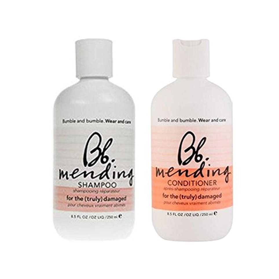 Bumble & Bumble Wear And Care Mending Duo- Shampoo And Conditioner - 着用し、-シャンプーとコンディショナーを補修ケア [並行輸入品]