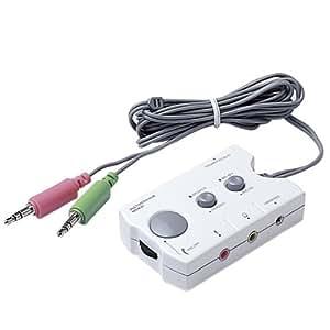 ロアス ボタンひとつでスピーカーとヘッドホンを簡単に切り替えるマルチメディア切替器 MSW-01