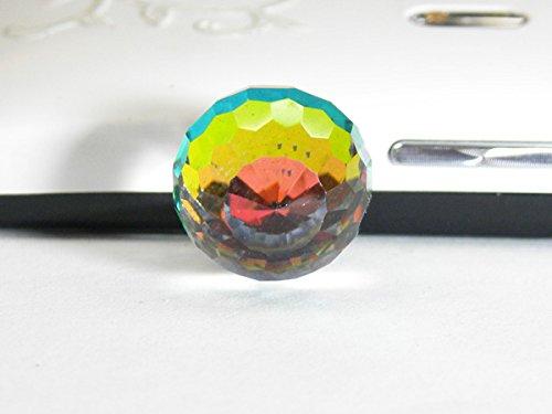 スマートフォンピアス イヤホンジャックアクセサリー ミラーボール型 smartphone-mirror-017
