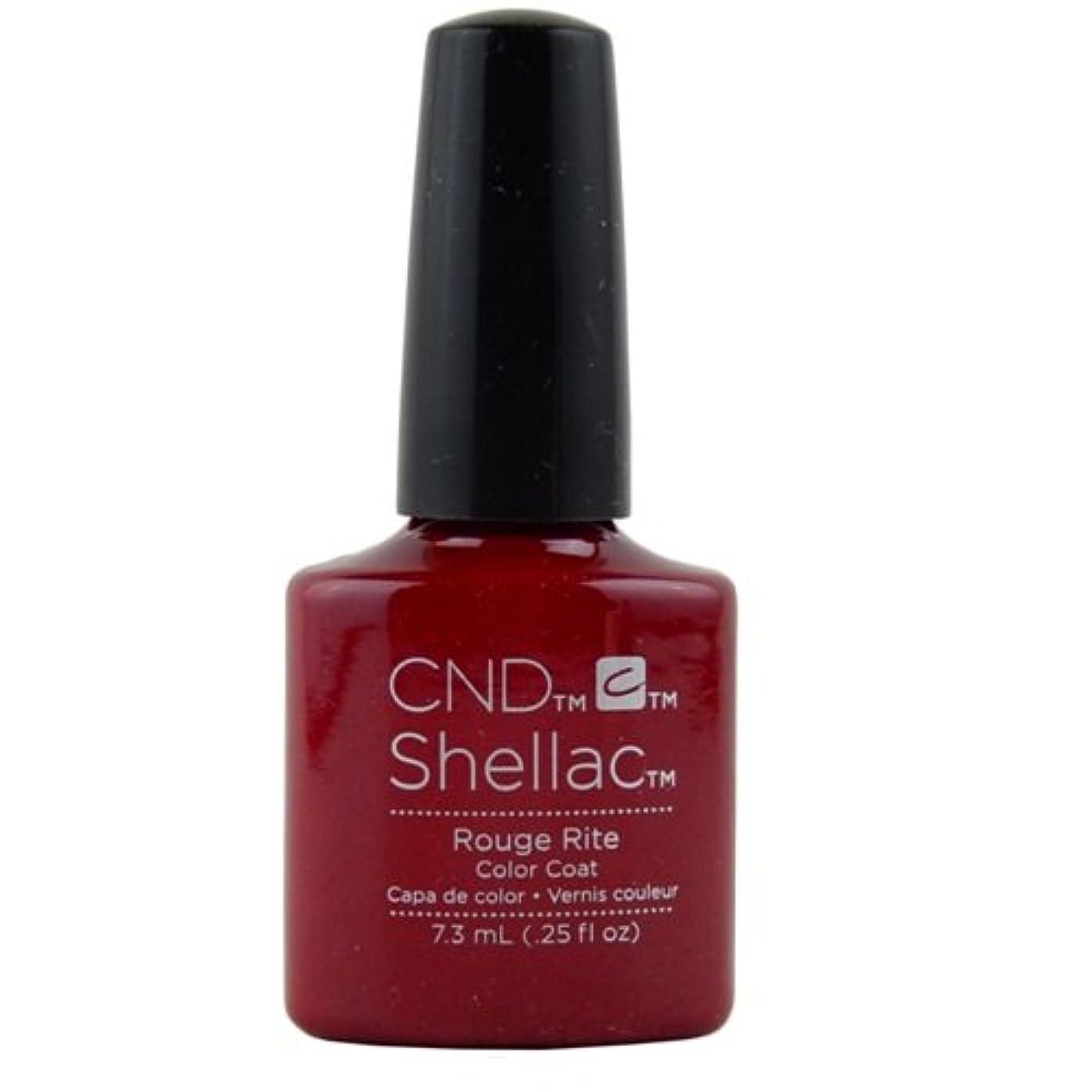 シーン無噴水CND Shellac Gel Polish - Rouge Rite - 0.25oz / 7.3ml