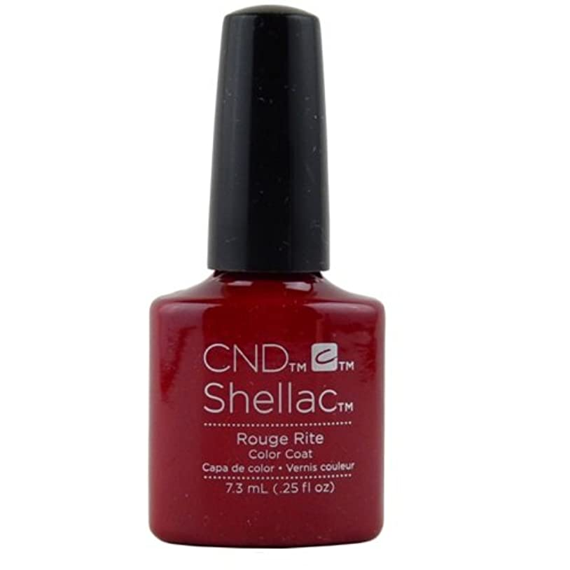 踏みつけしたがって犠牲CND Shellac Gel Polish - Rouge Rite - 0.25oz / 7.3ml