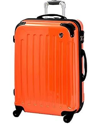 S型 マンダリンオレンジ / KY-FK37 TSAロック搭載 キャリーケース スーツケース 鏡面加工 (1~3日用)