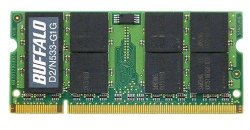 BUFFALO PCメモリ DDR2 533MHz SDRAM PC2-4200  200pin SO-DIMM 1GB D2/N533-G1G