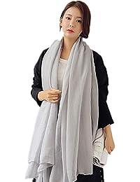 (レンニハハ)レディース スカーフ ストール 大判 マフラー 女性用 羽織 上品 シンプル 春 秋 冬 無地