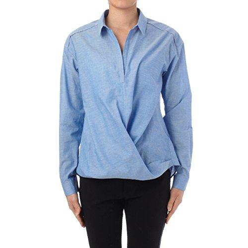 (リフレクト)Reflect スキッパー裾ひねりシャツ ブルー系(091) 11(L)