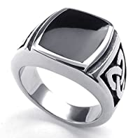PW 高品質チタン&ステンレス 指輪リンク 22886 シルバー(銀色) 【ラッピング対応】