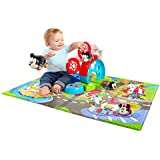 Disney Baby Mickey and Friends Go Grippers Cars Oball Design and Bounce Around Play Set and Colorful Foam Mat, Perfect for Your Little One's Playtime Adventure!