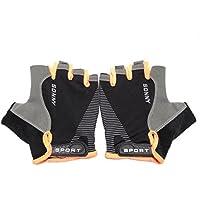 Ztzサイクリング手袋、ノンスリップUltrathin半指自転車サイクリング通気性手袋インラインスケート用手袋釣り、サイクリング、ローラースケートと登山夏に