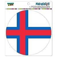 フェロー諸島国立国旗 - サークル MAG-格好いい'S(TM)カー/冷蔵庫マグネット