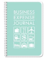 "BookFactoryビジネスexpenseジャーナル/Expense元帳ブック/航海日誌110ページ6"" x 9"" wire-o (bus-110–69CW (businessexpense))"