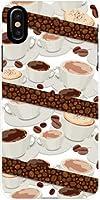 液晶保護フィルム 付 アイフォン テンエス iPhone XS docomo au SoftBank ドコモ エーユー ソフトバンク TPU ソフトケース コーヒーとコーヒー豆 スマホケース スマホカバー デザインケース