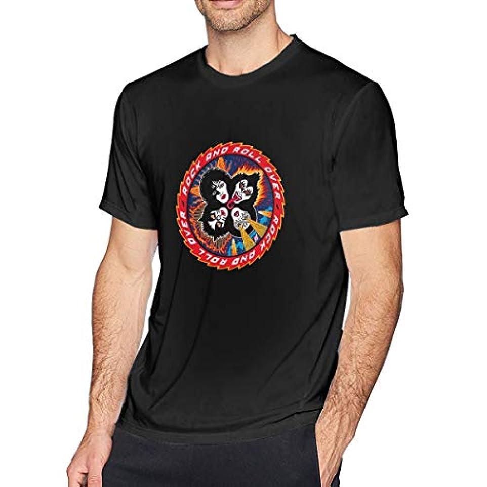 公式体細胞息切れ一葉草のtシャツ 半袖 メンズ 純綿 KISS FAN ミュージック プリント 印象的なTシャツ 着回 夏向き 爽やか ロゴTシャツ TEE トップス カットソー オシャレ オトク