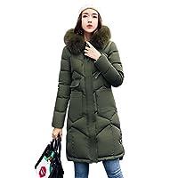 661dc63aad6030 ダウンジャケット 中綿コート レディース アウター 軽量 防風 防寒 トップス 秋冬 シンプル 女性用 フード付く 大きいサイズ(XL,グリーン)