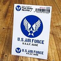 ステッカーセット US AIR FORCE アメリカ空軍 ブルー_SC-AFS01-GEN