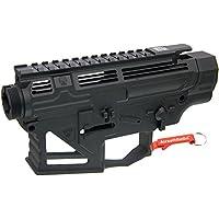APS PERレシーバーフレーム / レシーバーセット (タイプ2) APS M4電動ガン・VER.2メカボックス対応 (ブラック) 【キーホルダー付】