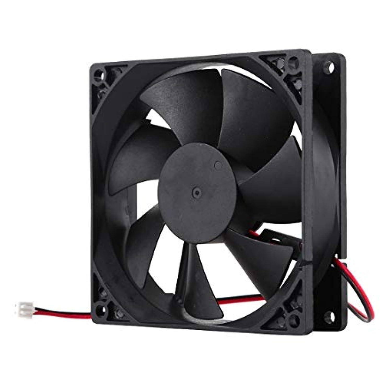 天文学コロニアル献身WTYDコンピューターアクセサリー 冷却ファン9インチ9025 2ピンコンピュータ コンピューターに使用 (Color : Black)
