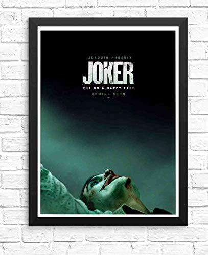 ぶら下げ絵画-映画ジョーカー2019年ホアキンフェニックス幸せな顔にポスター - サイズ:33x23cm(額縁を送る)