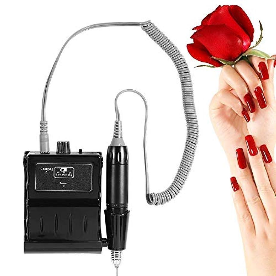 痛い連続的委任する30000 RPMネイルファイルドリル機、ポータブル充電式研削研磨バッファーと滑らかな爪デバイスツールセット(02#)