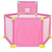 ポータブルベビープレイヤーアウトドアポータブルプレイペン屋内プレイ (色 : Pink)