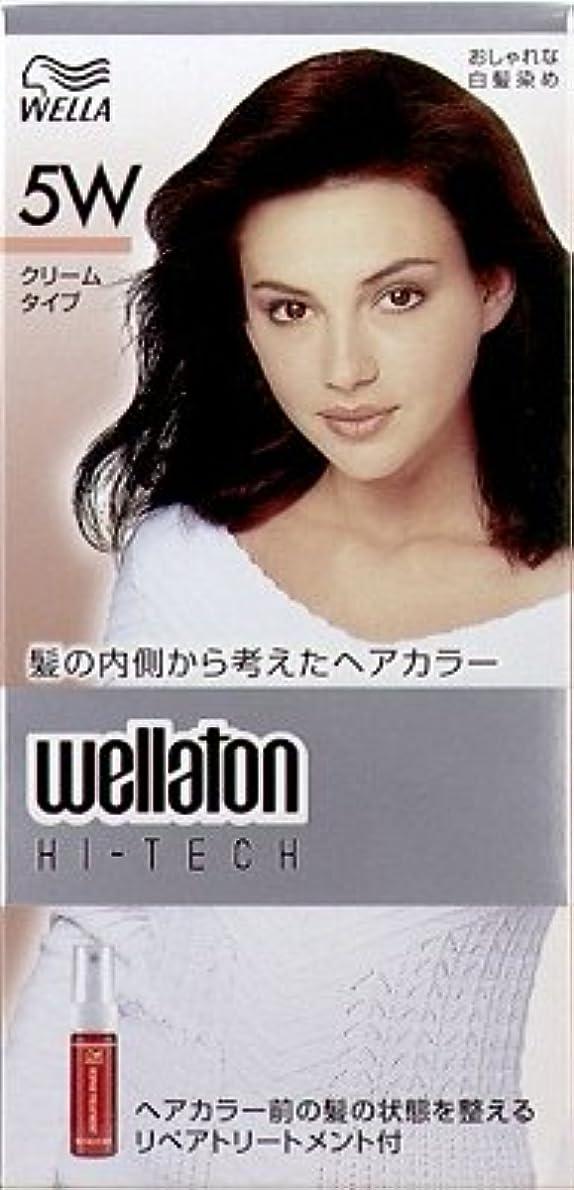 処理期限切れ母【ヘアケア】P&G ウエラトーン ハイテック クリーム 5W 暖かみのある深い栗色 医薬部外品 白髪染めヘアカラー(女性用)×24点セット (4902565140527)