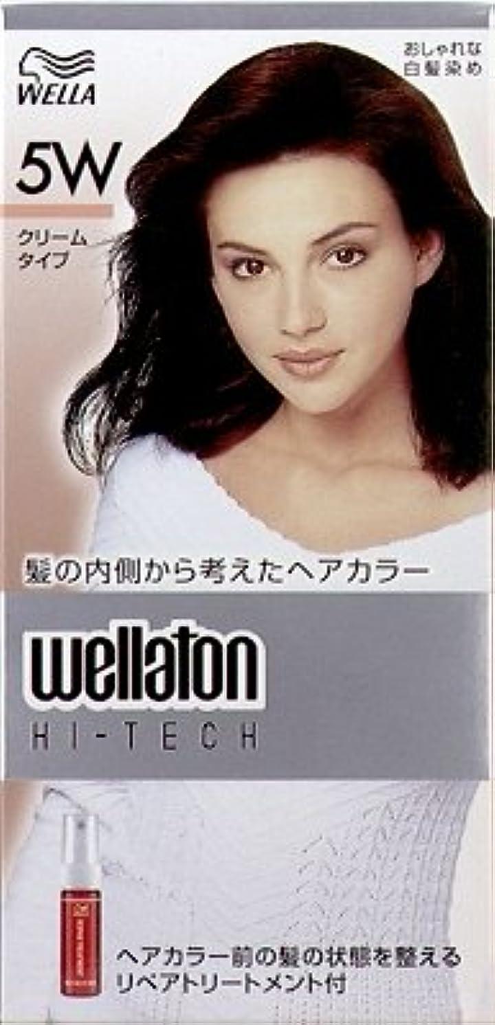 こどもセンター分注する思われる【ヘアケア】P&G ウエラトーン ハイテック クリーム 5W 暖かみのある深い栗色 医薬部外品 白髪染めヘアカラー(女性用)×24点セット (4902565140527)