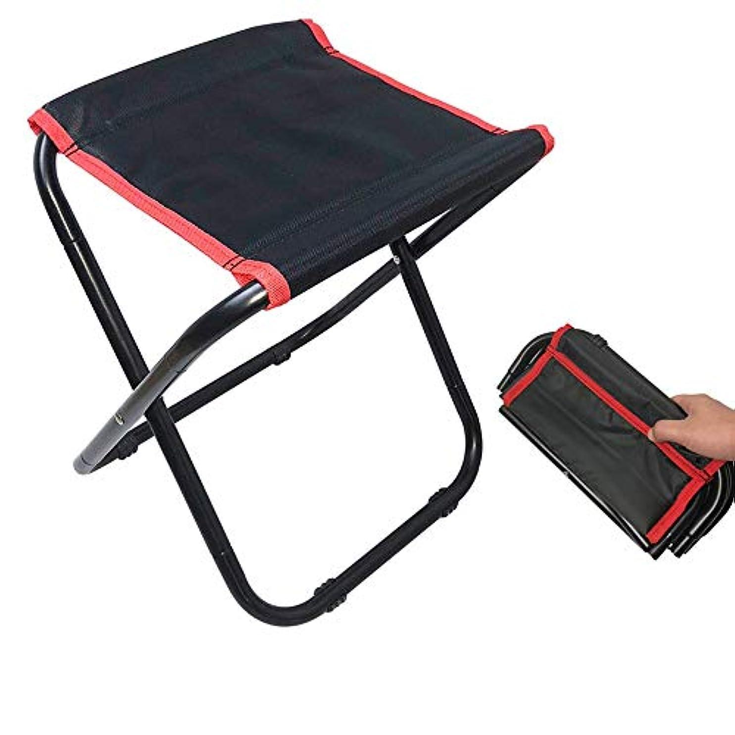 ピークラッドヤードキップリングバズミニ折りたたみ椅子、携帯用キャンプスツール、ハイキング旅行のための軽量椅子 アウトドア キャンプ用 (色 : ブラック, サイズ : 31.5*27*35cm)