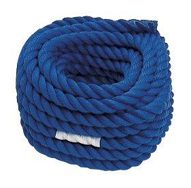 運動会用品 綱引き ロープ 青 直径30㎜×長さ20m