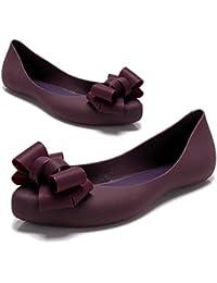 [スプリングスワロー] SpSw レディース 歩きやすい ローヒール ソフトソール 晴雨 兼用 靴 レイン パンプス シューズ