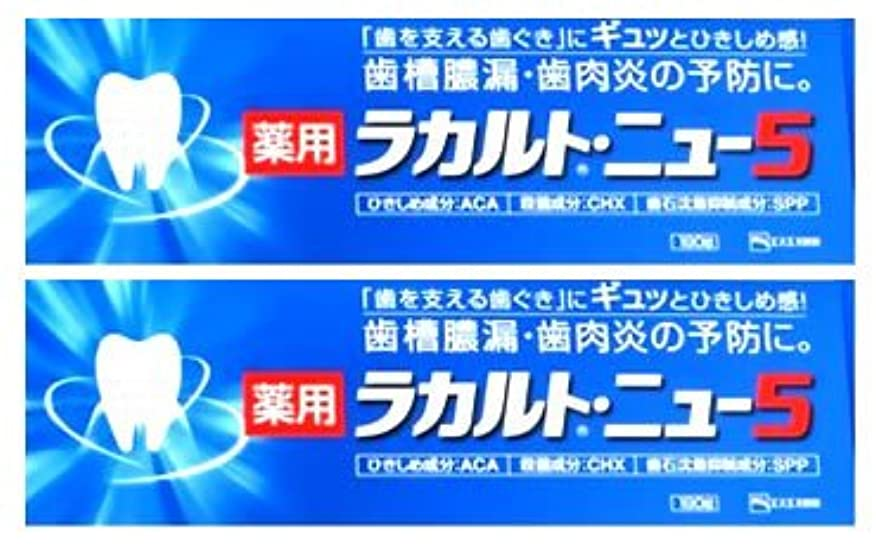 《セット販売》 エスエス製薬 薬用歯みがき ラカルトニュー5 (190g)×2個セット 【医薬部外品】