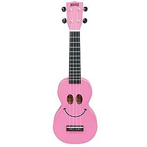 MAHALO ソプラノ ウクレレ アートシリーズ U-SMILE ピンク