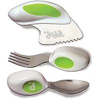 DODDL ドドル ベビー、幼児、子供用 スプーン、フォーク、ナイフセット   BPAフリー、欧州規格安全性テスト済み   12ヶ月以上向け   色: ライムグリーン