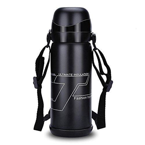Korge-buy ランヤード魔法瓶付き800mlダブルカバ...