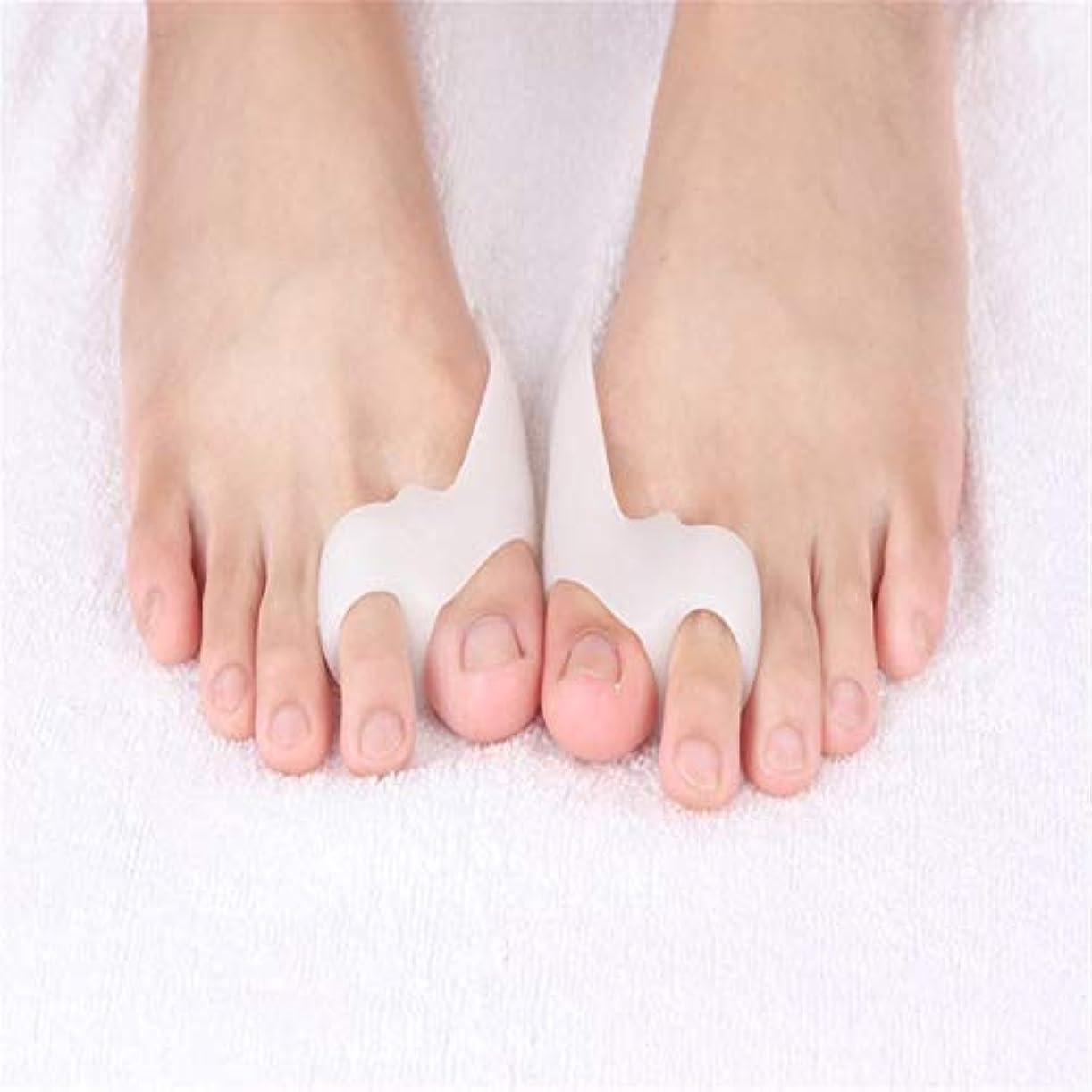 小競り合い形労苦MagRing Gel Foot Care Tool Bunion Corrector Bone Big Toe Protector Hallux Valgus Straightener Toe Spreader Pedicure...