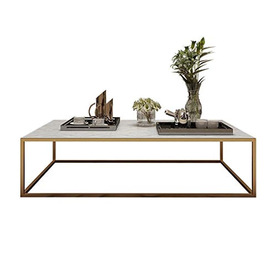 増幅ボルト名目上のQYSZYG マーブルスクエアコーヒーテーブルシンプルなリビングルームソファーコーヒーテーブル現代のクリエイティブメタルテーブル 小さなコーヒーテーブル