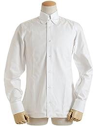 BARBA バルバ メンズ ワイシャツ ラウンド タブカラー ピンオックス コットン 長袖 KKU872514401U WH
