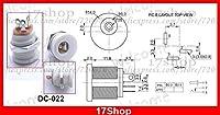 FENGYI KEJI 500PCS White 5.5mm x 2.1mm DC Socket + Nut Panel Mount DIY DC-022 for Charger