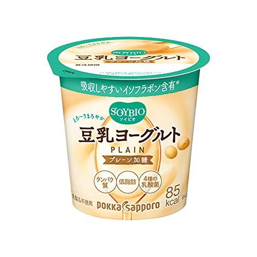 ポッカサッポロ ソイビオ豆乳ヨーグルト プレーン加糖(100g×12コ)クール便