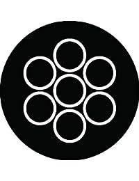 家紋シール 陰の七曜紋 布タイプ 直径40mm 6枚セット NS4-0131