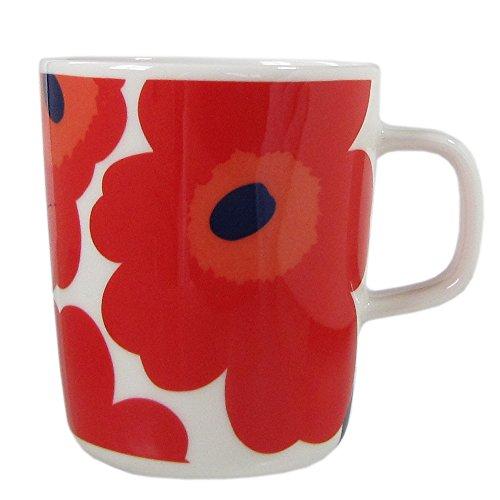 marimekko マグカップ ホワイト レッド 9.5×10.5×8 63431 001