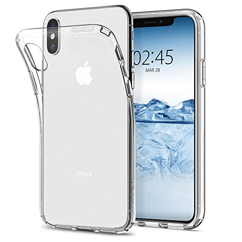 【Spigen】 スマホケース iPhone XS ケース/iPhone X ケース TPU 全面クリア 超薄型 超軽量 リキッド・クリスタル 057CS22118 (クリスタル ・クリア)