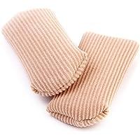 ノーブランド品 2組 お買い得 足指保護キャップ つま先プロテクター 足先のつめ保護キャップ 手指両用 (L)