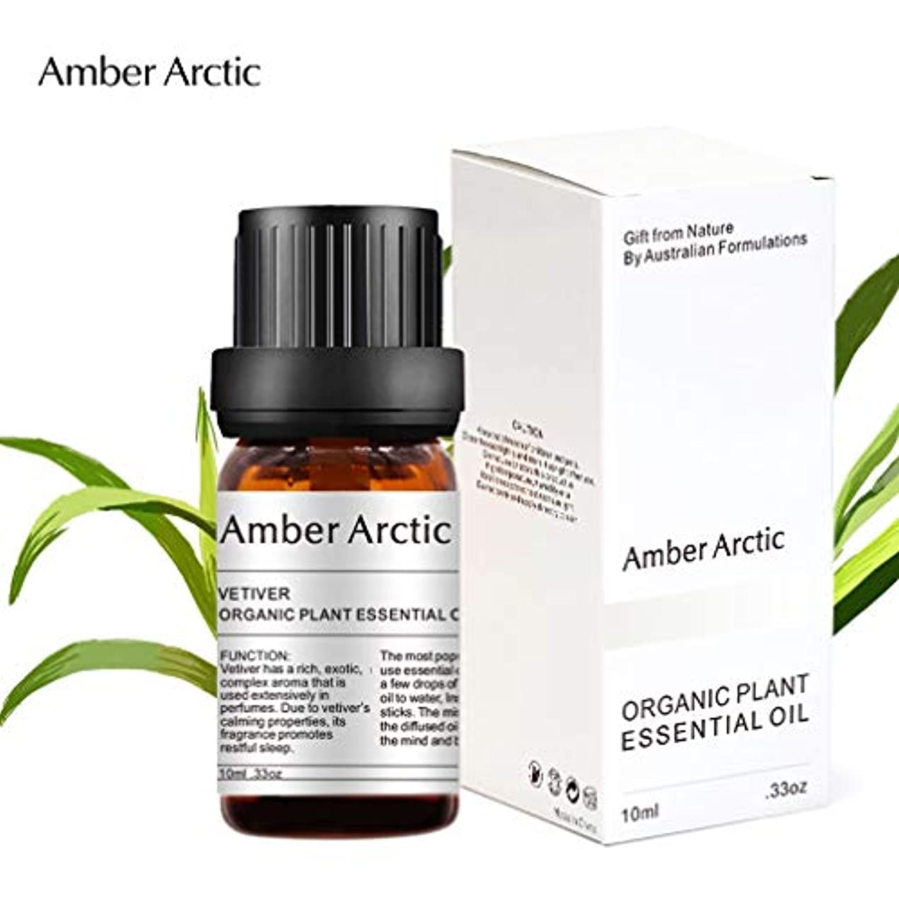 毎月名声が欲しいAMBER ARCTIC ベチバー エッセンシャル オイル ディフューザー 用 100%ピュア フレッシュ オーガニック 植物 療法 ベチバー オイル 10ml / 0.33oz